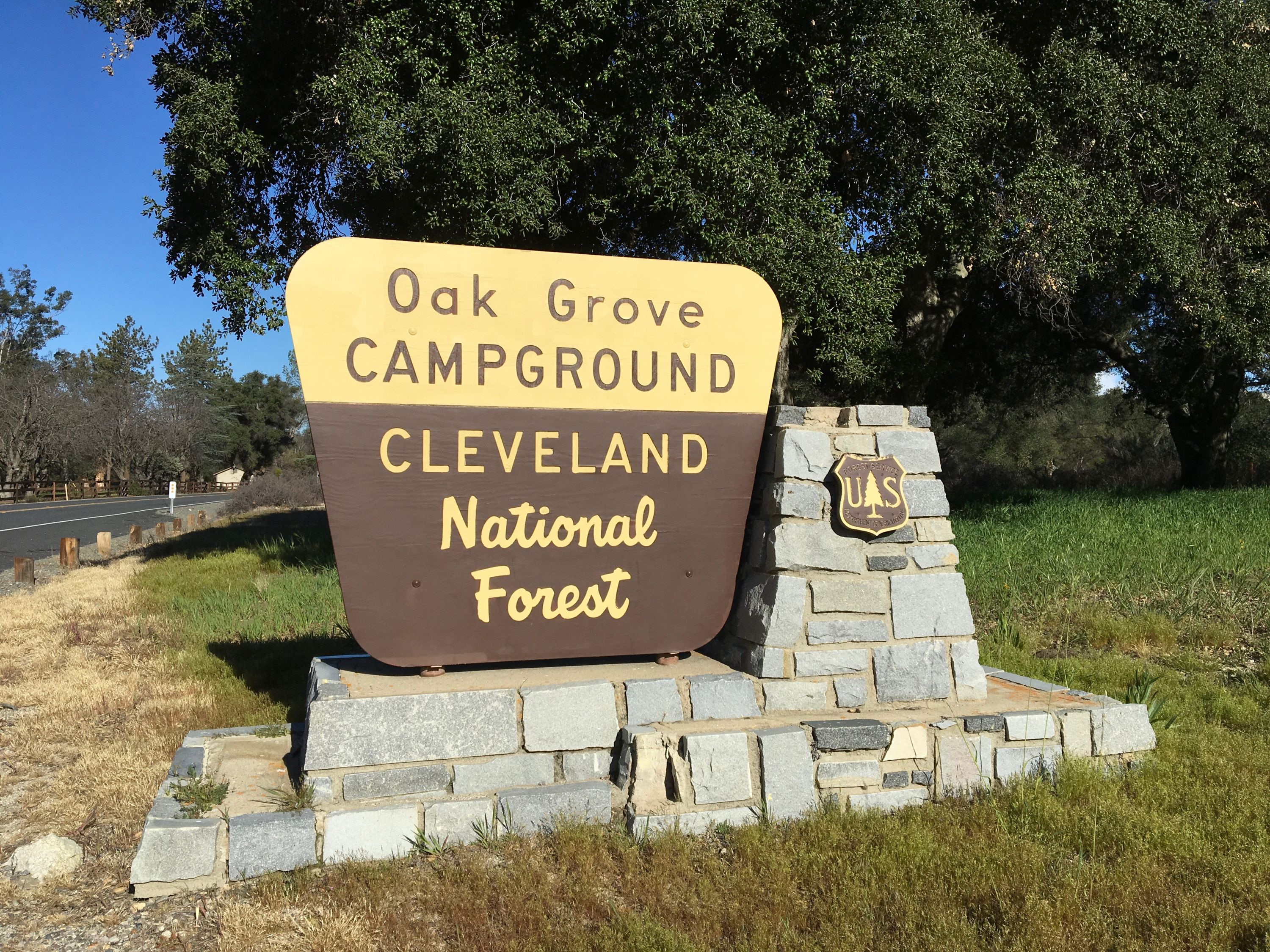 Cleveland National Forest sign